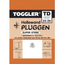 Toggler Hollewandplug 23-26mm TD-6 6 stuks