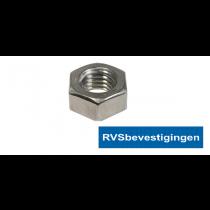 "Zeskantmoer Din934 BSW/UNC 1/4"" RVS A4 1st."